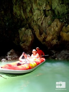 beautiful cave at phang nga bay