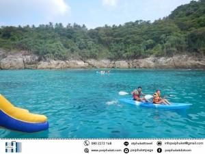 kayaking catamarn to Maiton and racha island sunset tour